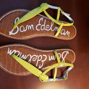 Sam Edelman citron sandals